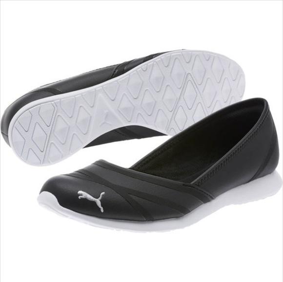 331d9739640b21 New Puma Vega Ballet Flat Black 9